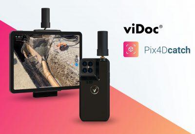 viDoc RTK csíptető Pix4DCatch szoftverhez